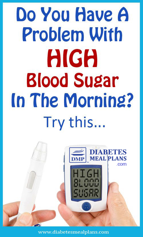 Need help with high monring blood sugar?