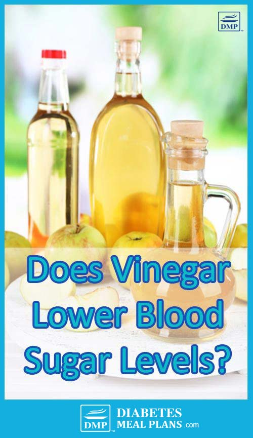 Does vinegar lower blood sugar levels?