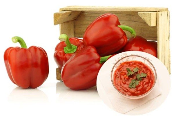 Red bell pepper sauce