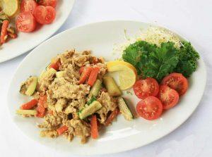 Diabetic Breakfast: Veggie Egg Scramble