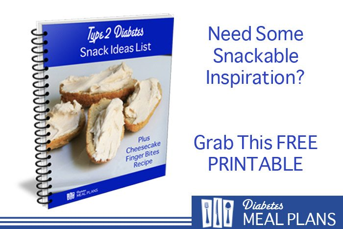 Diabetic Snack List [Printable]