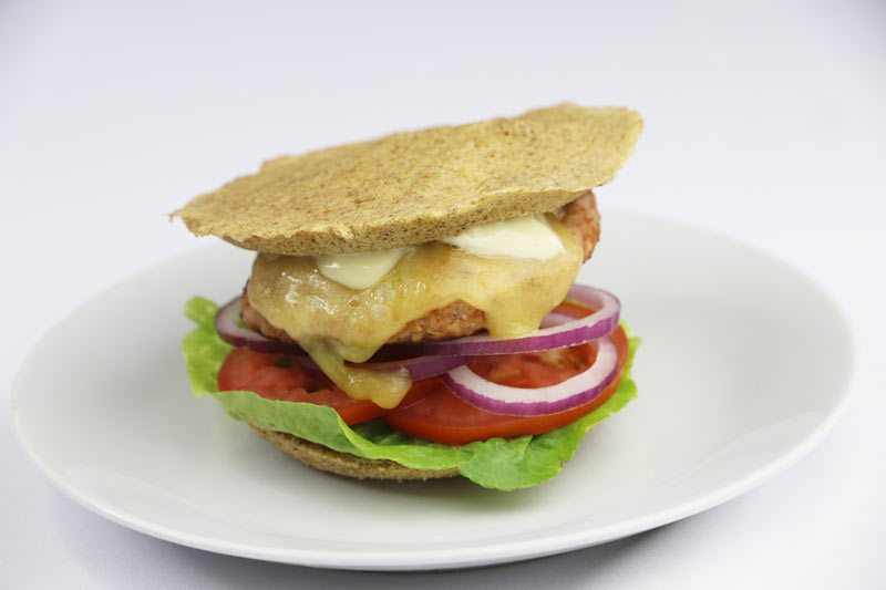 Mexican Turkey Burger with Low Carb Bun | ©DMP