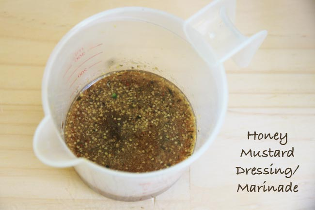 Sugar free Sweet Mustard Diabetic Dressing or Marinade