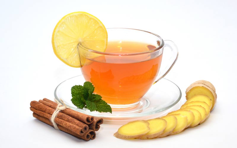 Cinnamon lemon ginger tea