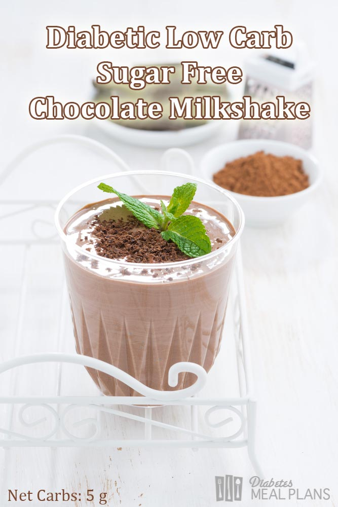 Sugar free, Low Carb, Diabetic Chocolate Milkshake