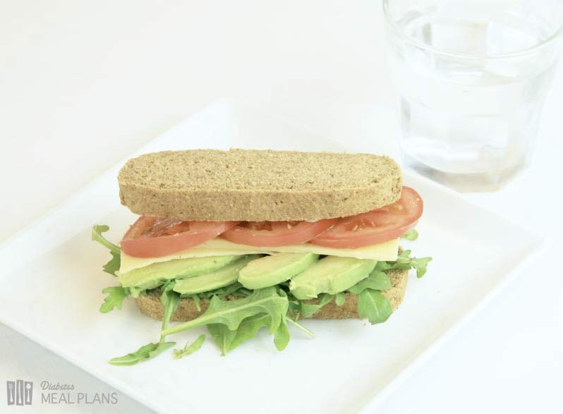 Avocado Cheese Tomato Sandwich on Zero Carb Bread