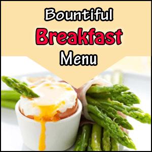 Bountiful Breakfast Menu