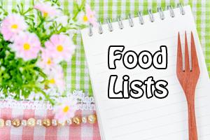 food-lists