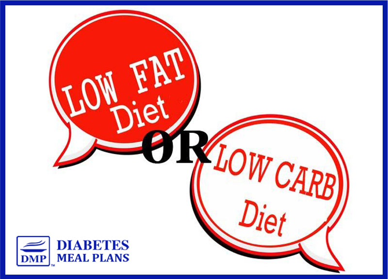 Low fat or low carb diet for diabetes