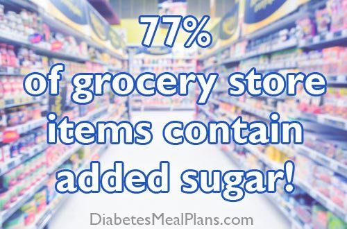 77% of grocery store items contain added sugar