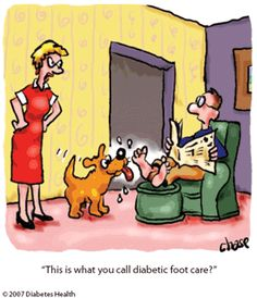 diabetic foot care joke