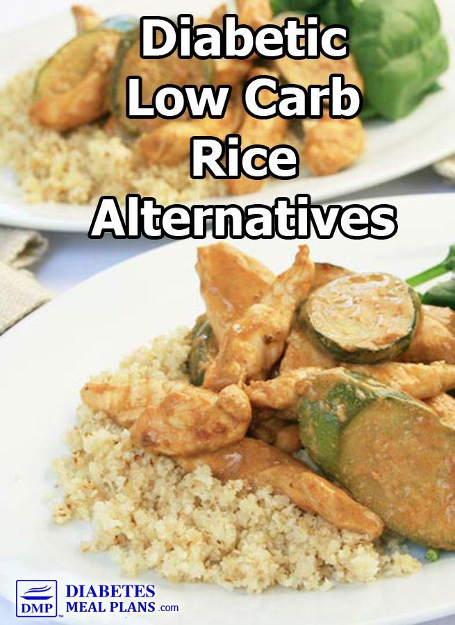 Diabetic Low Carb Rice Alternatives and Nutrition Facts