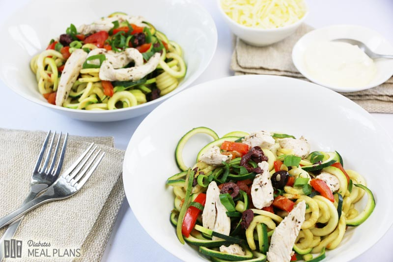 Diabetic Spaghetti: Olive Herb Chicken