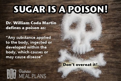 Sugar in large quantities is a poison to the human body