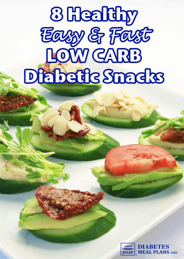 8 Easy, Fast, LOW CARB Diabetic Snack Ideas