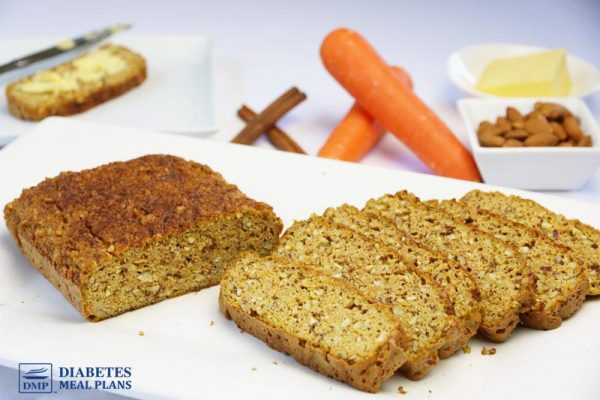 Low Carb Almond Flour Carrot and Cinnamon Loaf