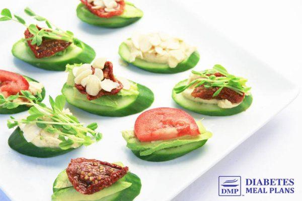 Diabetic Snack: Cucumber Crackers