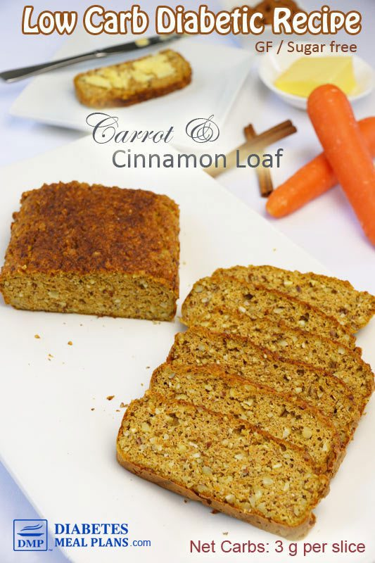 Low Carb Carrot Cinnamon Bread Recipe