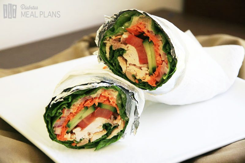 Chicken Lettuce Wrap: Diabetic Lunch Recipe