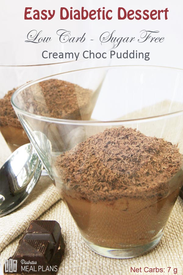 Low Carb Sugar Free Creamy Chocolae Pudding/ Mousse - AWESOME, simple and just 7 g carbs!!