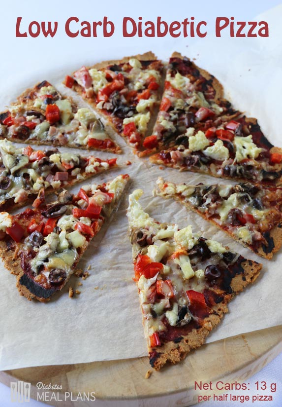 Low carb gourmet diabetic pizza - AMAZING!!