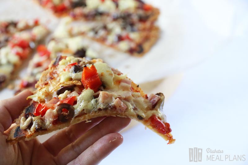 Low Carb Diabetic Pizza Crust - a thin awesome crust to top with your favorite deliciousness