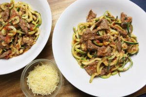 Beef Basil Zoodles