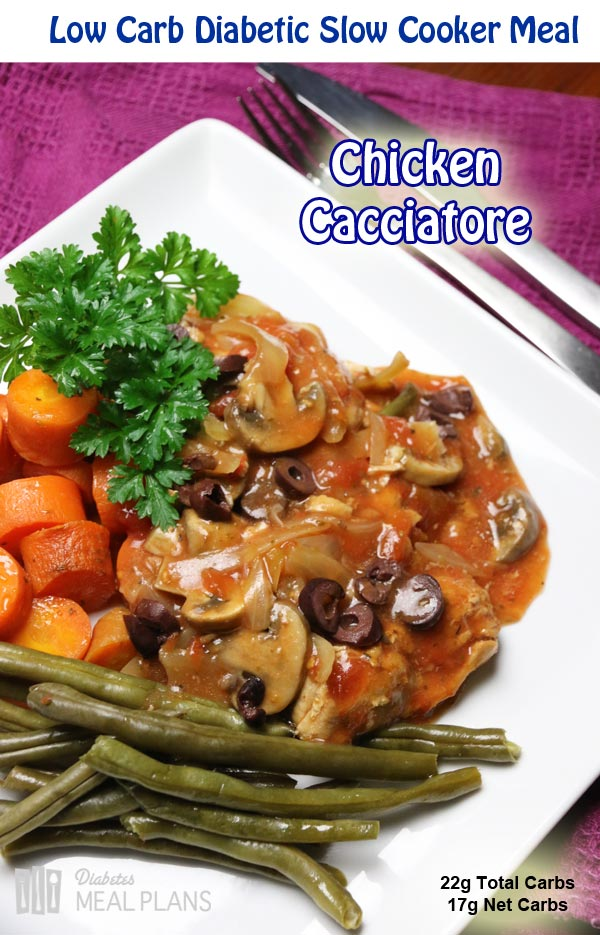 Easy slow cooker chicken cacciatore