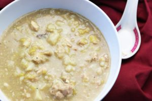 Chicken Cauliflower Leek Soup