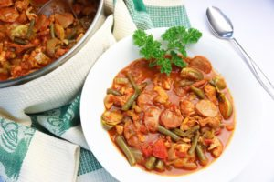 Low Carb Diabetic Recipe: Chicken Chorizo Gumbo