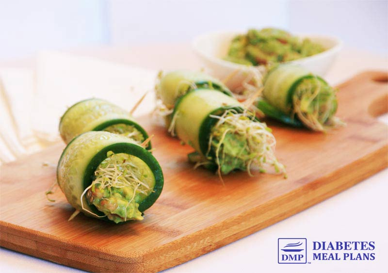 Diabetic Appetizer: Fresh Cucumber Rolls