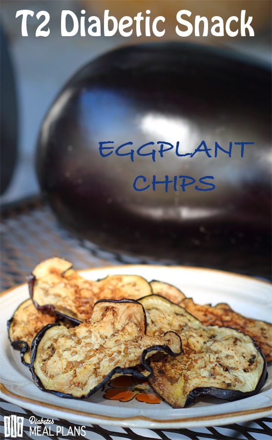 Diabetic Snack: Eggplant Chips - low carb too!