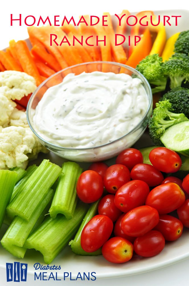 Diabetic Snack Recipe: homemade yogurt ranch dip