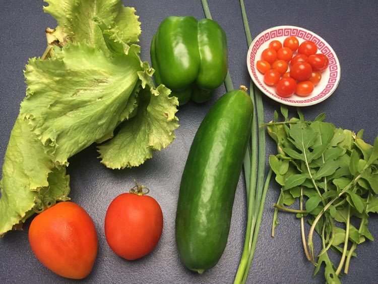 full salad harvest