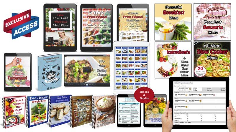 diabetes menus sample
