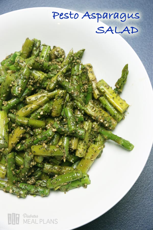 Pesto Asparagus Salad: Delicious low carb veggie side dish