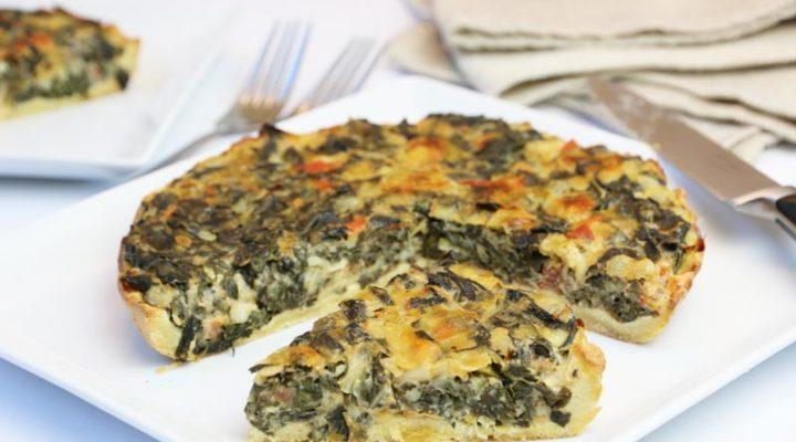 Spinach Pie w/ Low Carb Pie Crust