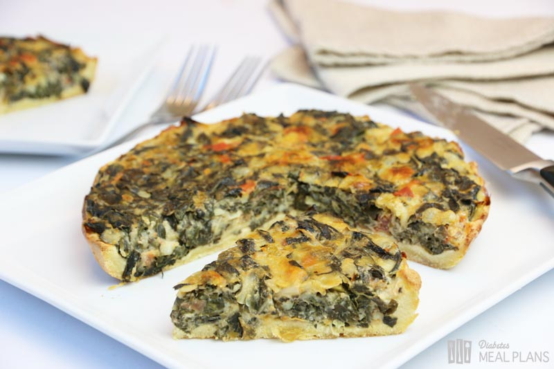 Spinach Pie w/ Low Carb Pie Crust