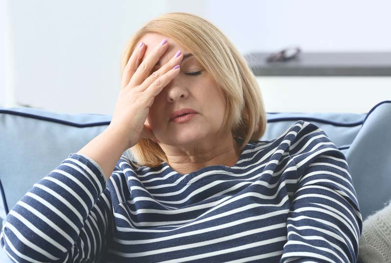 Woman feeling fatigued