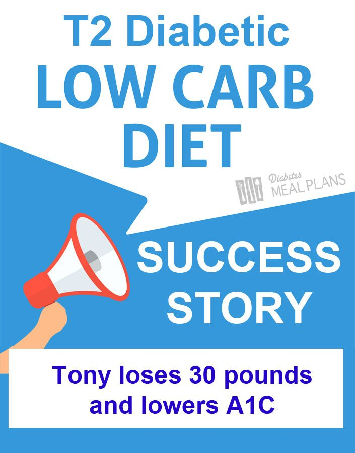 T2 Diabetic low carb success story - Tony loses 30 pounds and lowers A1C.