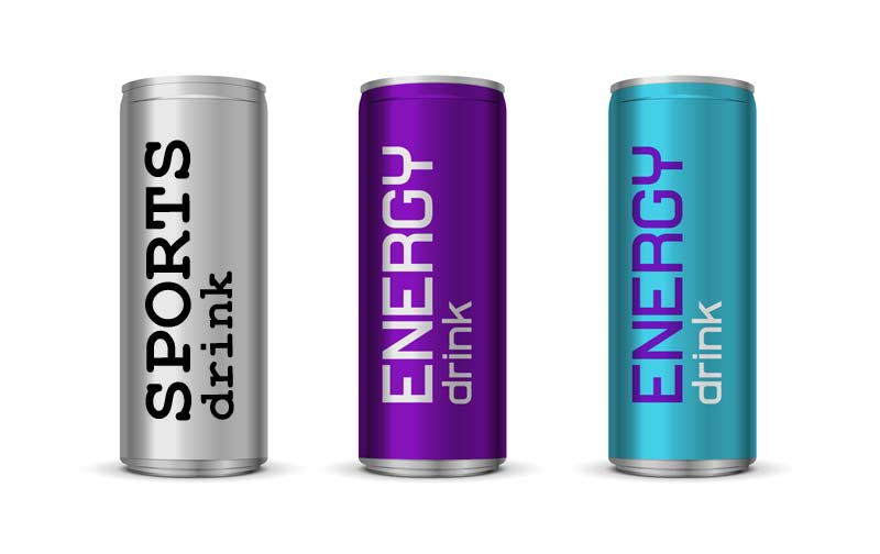sports and energy drinks