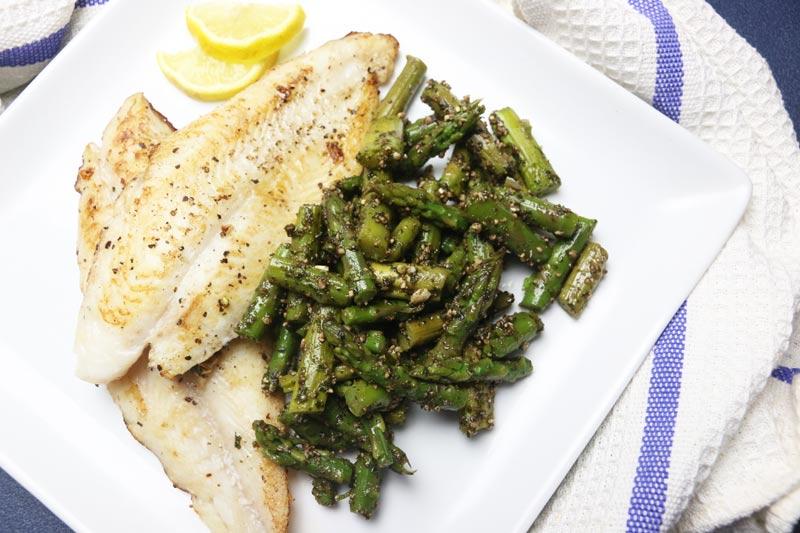 Fish and Asparagus Pesto Salad
