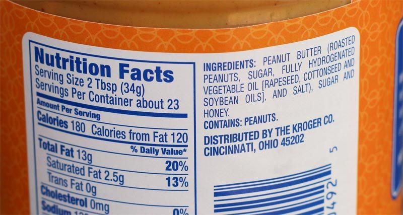 Krogers peanut butter ingredients