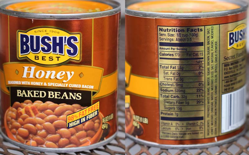 Baked Beans Label