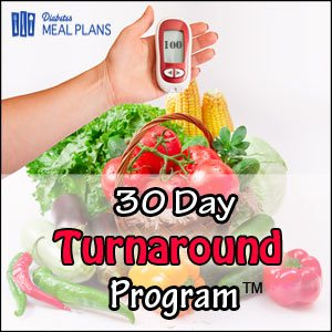 30 Day Turnaround Banner   Diabetes Meal Plans