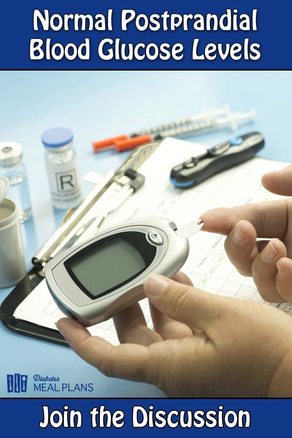 Join the discussion about normal postprandial blood glucose levels