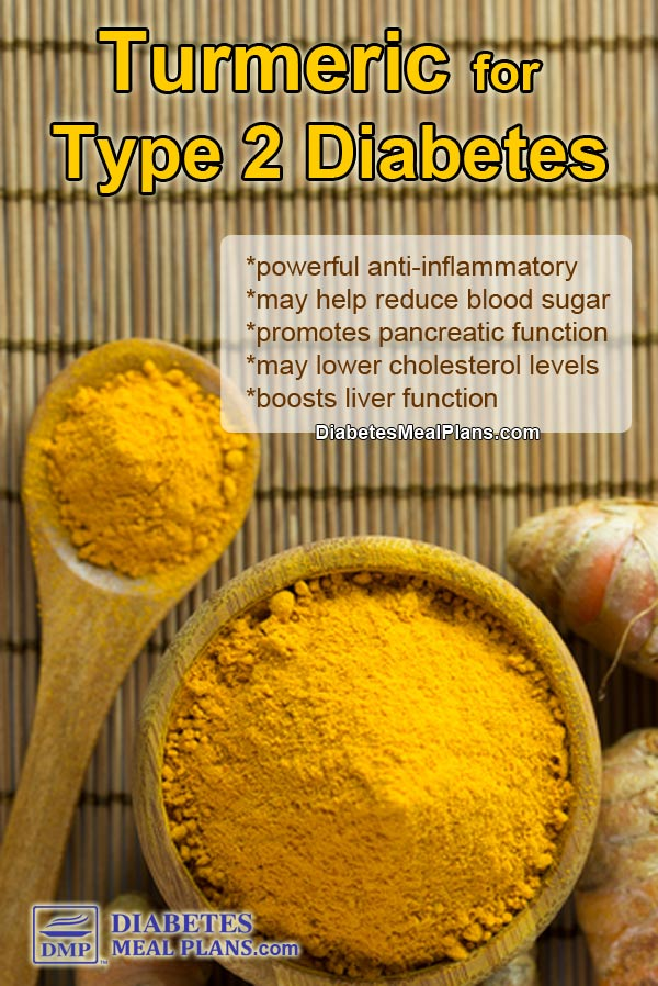 Benefits of turmeric for type 2 diabetes