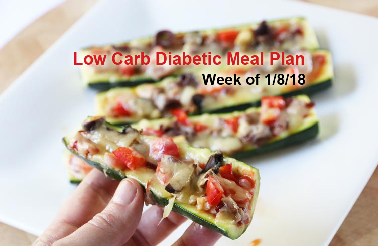 Diabetic Meal Plan: Week of 1/8/18