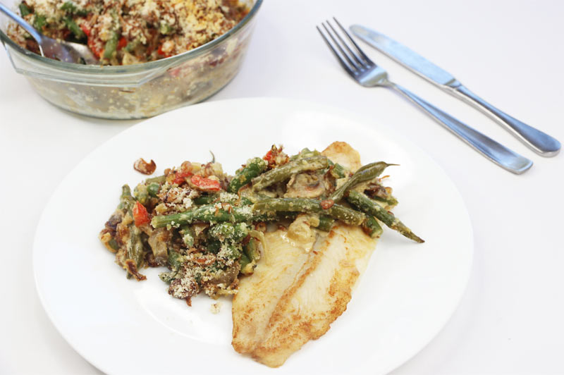 Easy Low Carb Green Bean Casserole with Fish