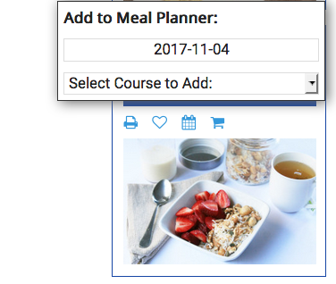 Select the Add to Meal Planner Button
